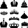 Set of ten crowns — Stock Vector