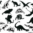 Royalty-Free Stock Vector Image: Set of dinosaurs silhouettes