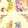 Set of four orchid branches — Stock Vector #6416816