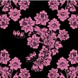 Black and pink flower background - Stock Vector