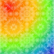 White decoration on rainbow background — Stock Vector