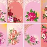 Set of roses in frames — Stock Vector #6417301