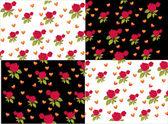 Růže a srdce pozadí — Stock vektor