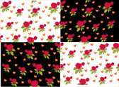 Roses and hearts background — Stock Vector