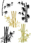 Bamboo collection on white — Stock Vector