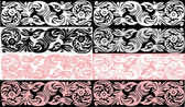 Set of pink and black abstract bands — Stock Vector