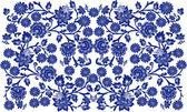 Blauw op witte bloemen achtergrond — Stockvector