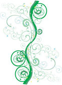 Green abstract curls on white — Stock Vector