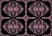 Four element pink floral design — Stock Vector