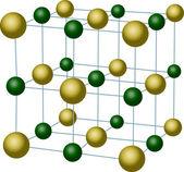Natriumchloride crystal structue — Stockvector