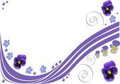 Padrão com flores azuis pansy — Vetorial Stock