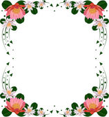 Frame with lily flowers — Stock Vector