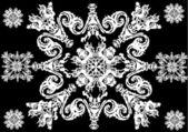 Weißes abstrakte stern dekoration — Stockvektor