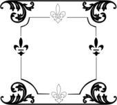 Zwart-wit frame ontwerp ingericht — Stockvector