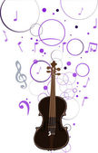 Violin and musical background illustration — Stock Vector