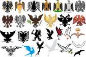 National heraldic eagles collection — Stock Vector