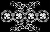 Design med vit symmetriska lockar — Stockvektor
