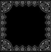 White square patterned frame — Stock Vector