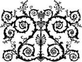 Symmetrical black curls — Stock Vector