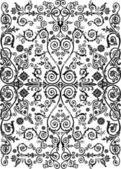 Symmetriska band med anläggningen mönster — Stockvektor