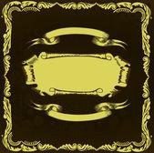 Light old scroll in frame — Stock Vector