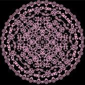 上黑颜色粉红色圆的设计 — 图库矢量图片
