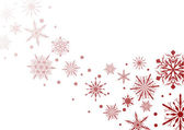 Red snowflake illustration — Vettoriale Stock