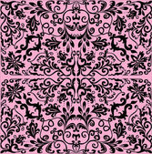 Abstract square black pattern on pink — Stock Vector