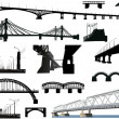 Collection of isolated bridges — Stock Vector #6649078