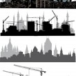 Four cities silhouettes — Stock Vector #6649112