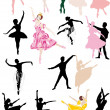 Ballet dancers collection — Stock Vector