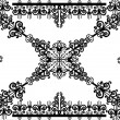 Black on white simple curled pattern -  