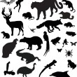 Royalty-Free Stock Vector Image: Collection of different animals silhouettes