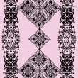 Abstract curled black decoration on pink - Stok Vektr