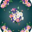 Royalty-Free Stock Vector Image: brier and forest violet flowers frame decoration