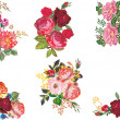 Six bunch of roses collection — Stock Vector