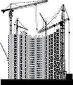 灰色のモダンな家を建てる — ストックベクタ