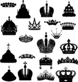Twenty crowns set — Stock Vector