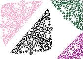 четырех углах абстрактного украшения — Cтоковый вектор