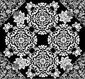 白の抽象的な対称的な正方形のパターン — ストックベクタ
