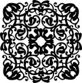 Black square plant ornament illustration — Stock Vector