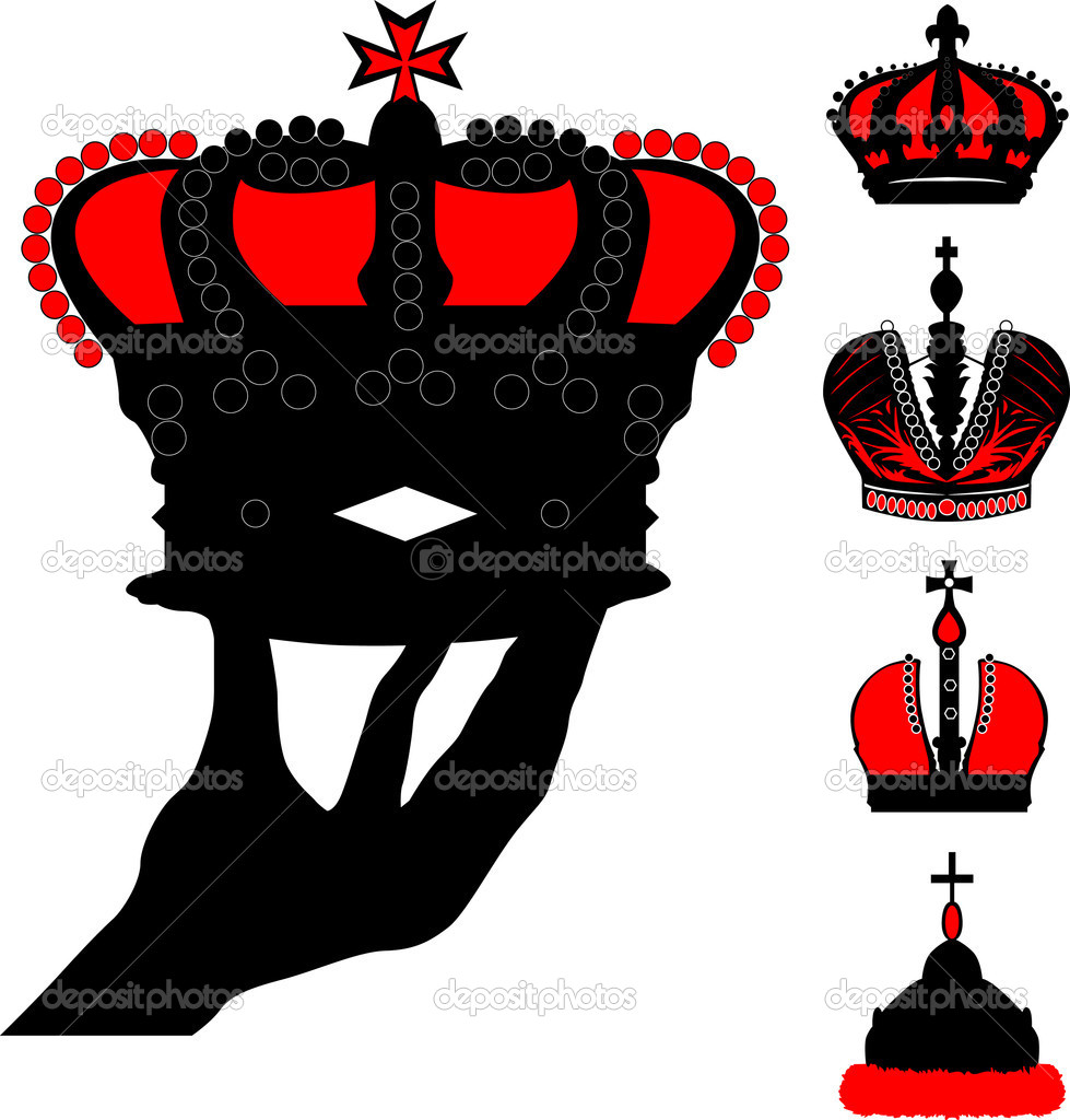 Stock Vector Dr Pas 6261329: Human Hand Holding Crown Illustration