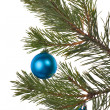 Stock Photo: Christmas tree decoration on white