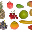 Set of isolated fruits — Stock Photo #6651208
