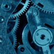 Stock Photo: Blue gear machinery