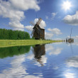 Windmill with reflection — Stock Photo #6651766