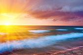 Violet sea cloudscape — Stock Photo