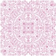 Pink on white square pattern -  