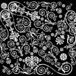 Curled background with white elements - Stock vektor
