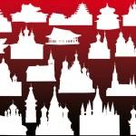 Religious buildings on dark background — Stock Vector #6650195